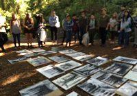 スケッチのクラス 実際に森の中で影を描く練習
