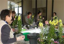 緑化PRイベントでの園芸教室の開催