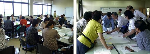デザインワークショップ実習などを行う演習室