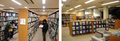 専門書やビデオライブラリーなどが充実した図書館
