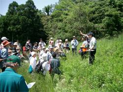 自然観察や環境保全について実習する環境保全ゾーン