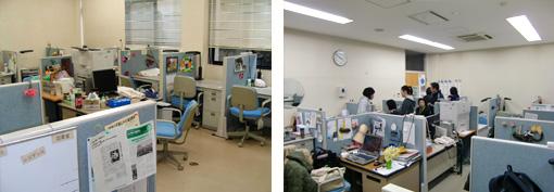 園芸療法課程の学生専用のスタジオ